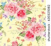 watercolor natural summer... | Shutterstock . vector #630325082