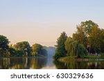 city lake at sunset             ... | Shutterstock . vector #630329636