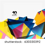 3d triangles geometric vector... | Shutterstock .eps vector #630330392
