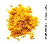 piled of turmeric powder... | Shutterstock . vector #630337352