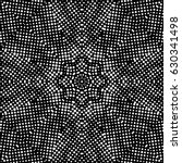 abstract halftone psychedelic... | Shutterstock . vector #630341498