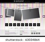 vector website design template | Shutterstock .eps vector #63034864