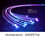 optical fibers | Shutterstock .eps vector #63035716
