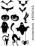 halloween set. | Shutterstock .eps vector #63036163