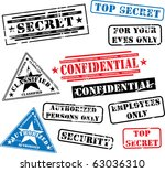 various security rubber stamps  ... | Shutterstock .eps vector #63036310