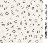 seamless primitive jumble...   Shutterstock .eps vector #630368468