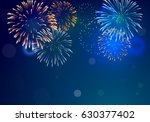 brightly colorful fireworks on... | Shutterstock .eps vector #630377402