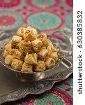 heap of turkish baklawa... | Shutterstock . vector #630385832