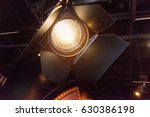 spotlights on a theatre stage  | Shutterstock . vector #630386198