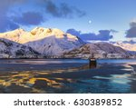 boat harbor in alaska | Shutterstock . vector #630389852