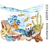 marine life landscape   the... | Shutterstock . vector #630391112