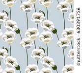 floral pattern. seamless... | Shutterstock .eps vector #630391736