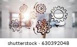 close of businesswoman hand... | Shutterstock . vector #630392048