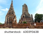 ancient place in ayutthaya... | Shutterstock . vector #630393638