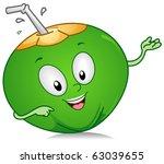 illustration of a coconut... | Shutterstock .eps vector #63039655
