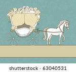vintage card with carriage and... | Shutterstock .eps vector #63040531