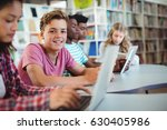 students using laptop  digital... | Shutterstock . vector #630405986