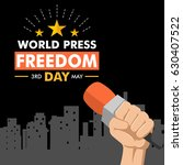 world press freedom day... | Shutterstock .eps vector #630407522