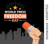 world press freedom day... | Shutterstock .eps vector #630407522