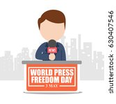 world press freedom day... | Shutterstock .eps vector #630407546