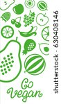 set of vegetables and fruits... | Shutterstock .eps vector #630408146