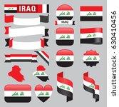 set of iraq maps  flags ... | Shutterstock .eps vector #630410456