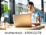 focused female executive... | Shutterstock . vector #630412178