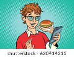 online food delivery  a... | Shutterstock .eps vector #630414215