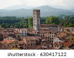 red roofs and tower of basilica ... | Shutterstock . vector #630417122