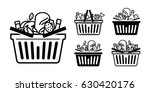 grocery store icon. shopping... | Shutterstock .eps vector #630420176
