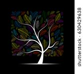 colorful art tree for your... | Shutterstock .eps vector #630429638