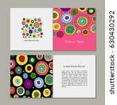 greeting cards set  abstract... | Shutterstock .eps vector #630430292