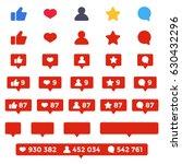 like  follower  comment icon... | Shutterstock .eps vector #630432296