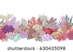 hand drawn underwater natural... | Shutterstock .eps vector #630435098