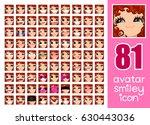 vector set 81 social media... | Shutterstock .eps vector #630443036