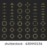 huge rosette wicker of border... | Shutterstock . vector #630443156