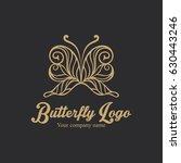 butterfly logo | Shutterstock .eps vector #630443246