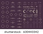 circle and square wicker... | Shutterstock . vector #630443342