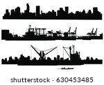 city skyline silhouette   Shutterstock .eps vector #630453485