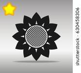 flower black icon button logo...
