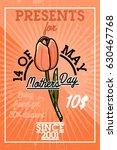 color vintage mothers day banner   Shutterstock .eps vector #630467768