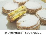 cookies with custard and... | Shutterstock . vector #630470372