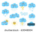weather symbols   colored... | Shutterstock . vector #63048004