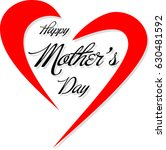 happy mother's day lettering    Shutterstock .eps vector #630481592