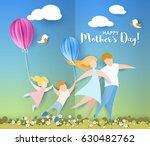 beautiful women with her... | Shutterstock .eps vector #630482762