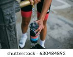 Hot Cyclist Filling Colorful...