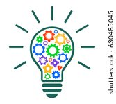 mechanism of generating ideas   ... | Shutterstock .eps vector #630485045