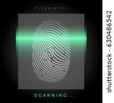 digital fingerprint scanning | Shutterstock .eps vector #630486542