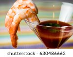 shrimp cocktail with sauce... | Shutterstock . vector #630486662