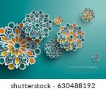paper graphic of islamic... | Shutterstock .eps vector #630488192